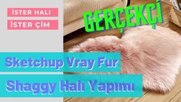 Sketchup Vray Fur İle Gerçekçi Shaggy Halı Yapımı