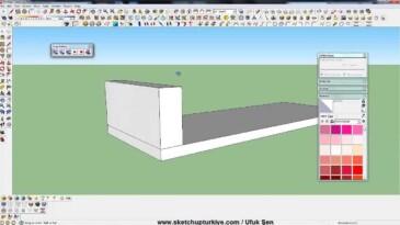 Sketchup Koltuk Modelleme 01